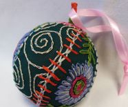 embroidered bauble